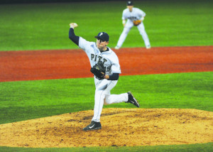 Starter Sam Mersing pitched seven strong innings on Wednesday.