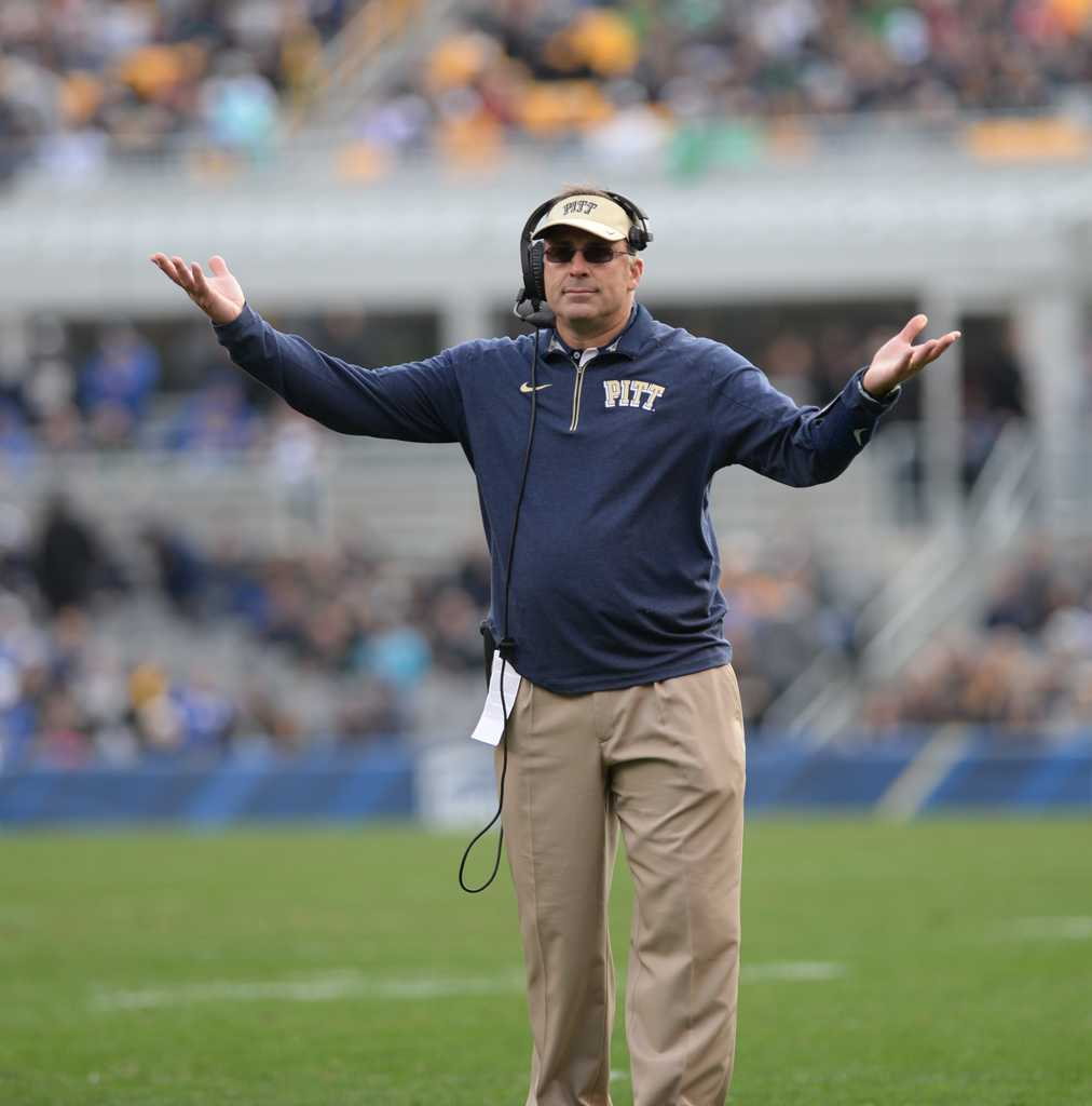 "Football Head Coach Pat Narduzzi retracted his ""permission slip"" that excused students from Thursday night classes for the Virginia Tech game. Heather Tennant 