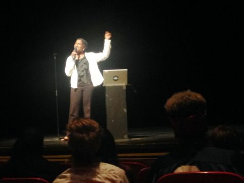 Duriel E. Harris sings 'Danger, Live Feed' / photo by Matt Maielli