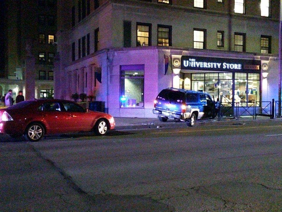 An SUV and a sedan crashed on Fifth Avenue Saturday evening. Photo: J. Dale Shoemaker / Managing Editor