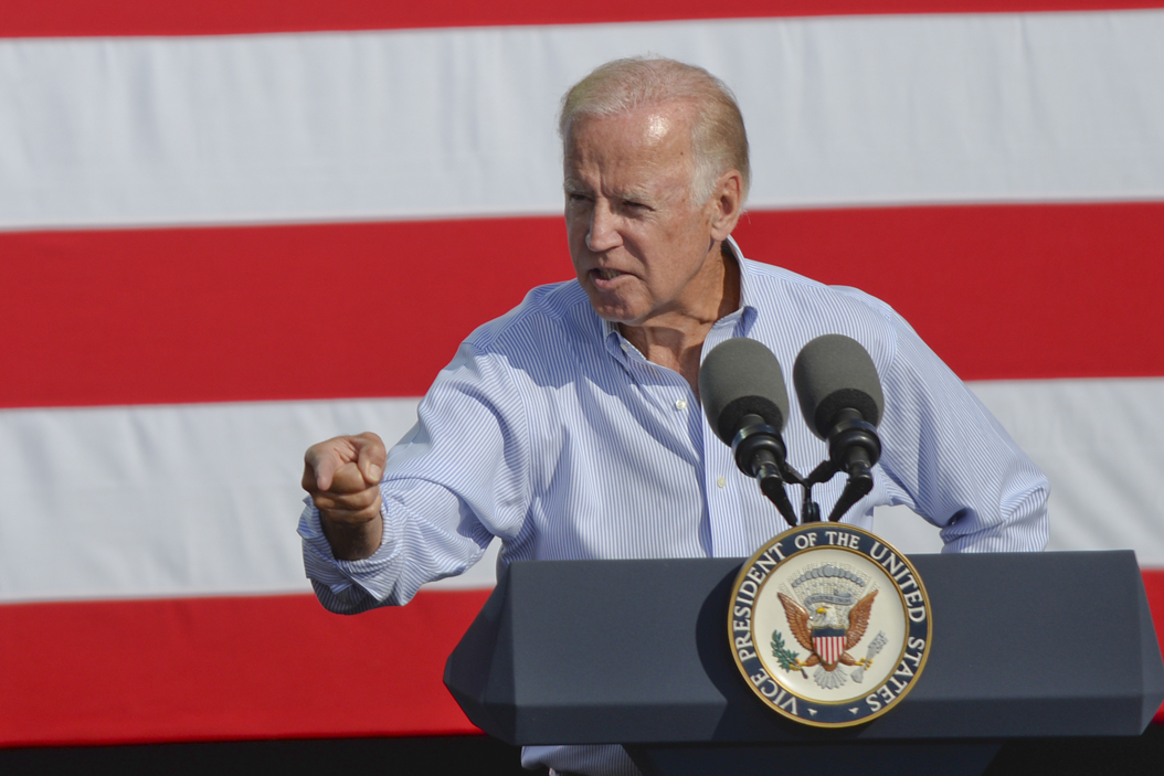 Biden stumps for Clinton, McGinty at Chatham