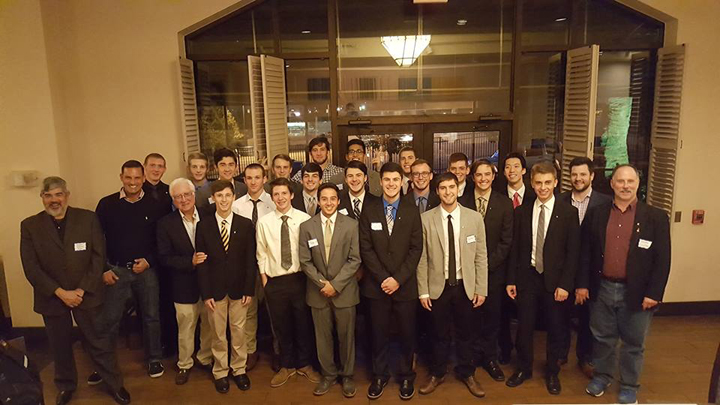 Pi Lambda Phi fraternity is back on campus after being suspended in 2014. Courtesy of Pi Lambda Phi, University of Pittsburgh