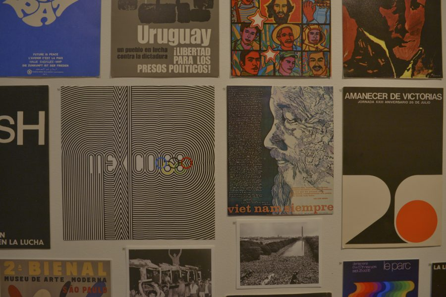 """Lance Wyman's """"Mexico Summer Olympics Logo"""" was among the pieces showcased at """"Paradoxes at Play"""" at The University Art Gallery. Katie Krater 