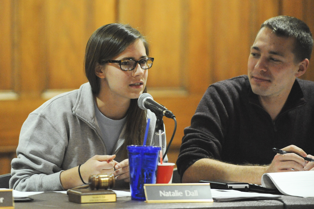 President Natalie Dall led the Student Government Board's last meeting of the year on Tuesday evening | William Miller, Senior Staff Photographer