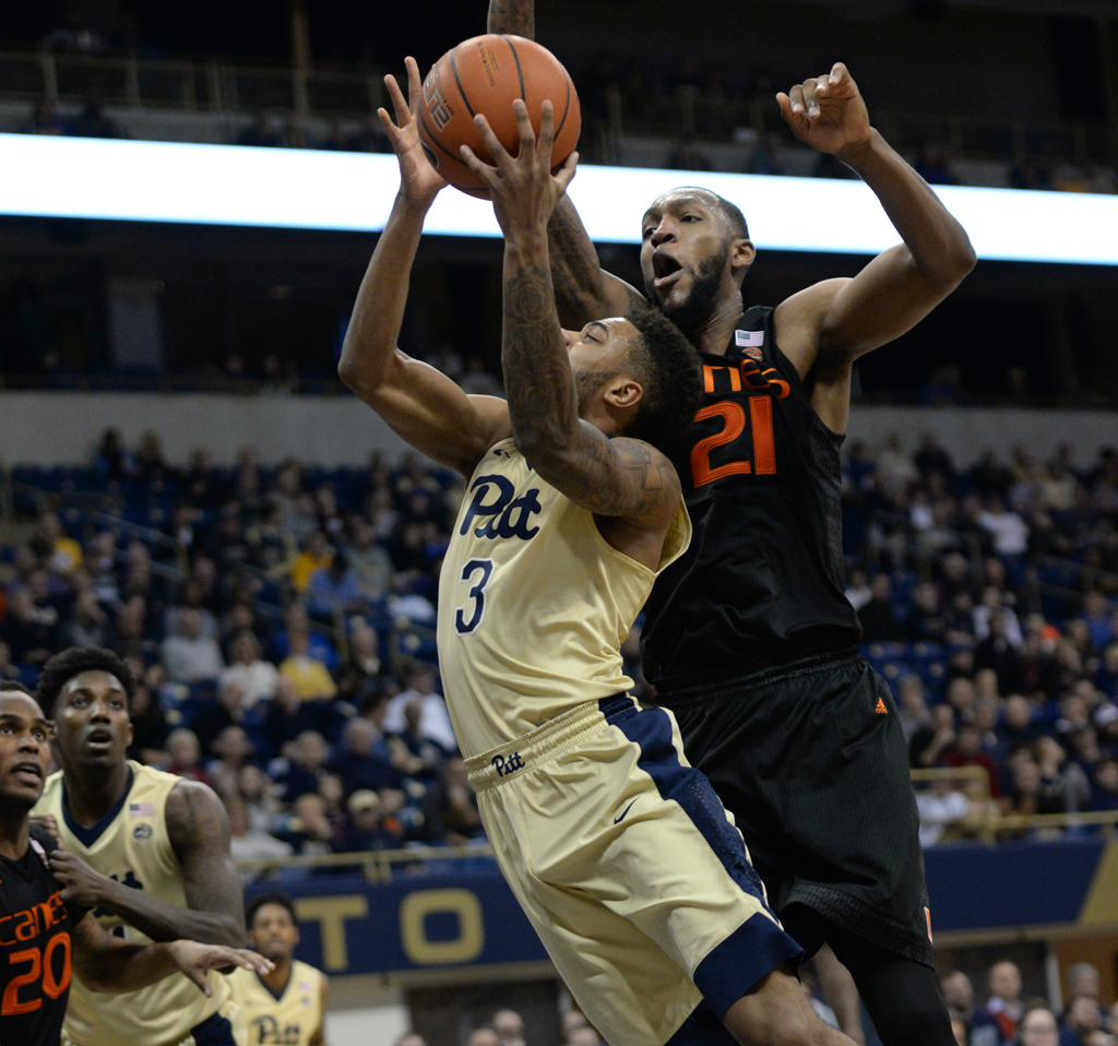 The Miami Hurricanes dominated Pitt in a 72-46 rout Saturday at the Petersen Events Center. Jeff Ahearn | Senior Staff Photographer