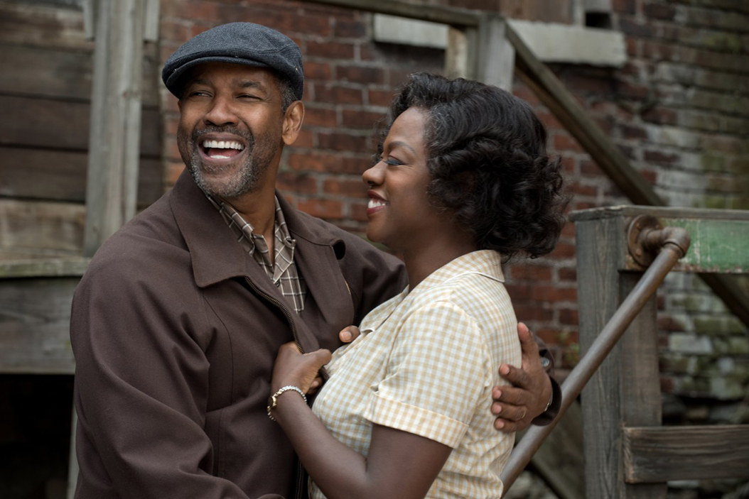 "Denzel Washington and Viola Davis in ""Fences."" David Lee