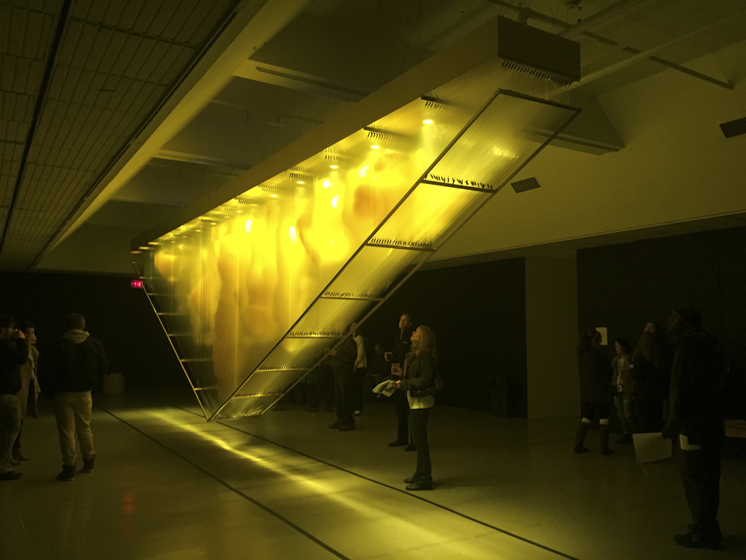 "David Spriggs' installation, ""Gold,"" was on the Gallery Crawl's first stop. | Caroline Bourque, Staff Writer"