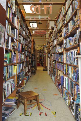 The sci-fi and fantasy sections at Ricket&Beagle Books. Elaina Zachos   Senior Staff Photographer