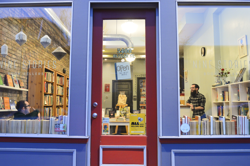 The exterior of Nine Stories Booksellers on Butler Street in Lawrenceville Elaina Zachos | Senior Staff Photographer