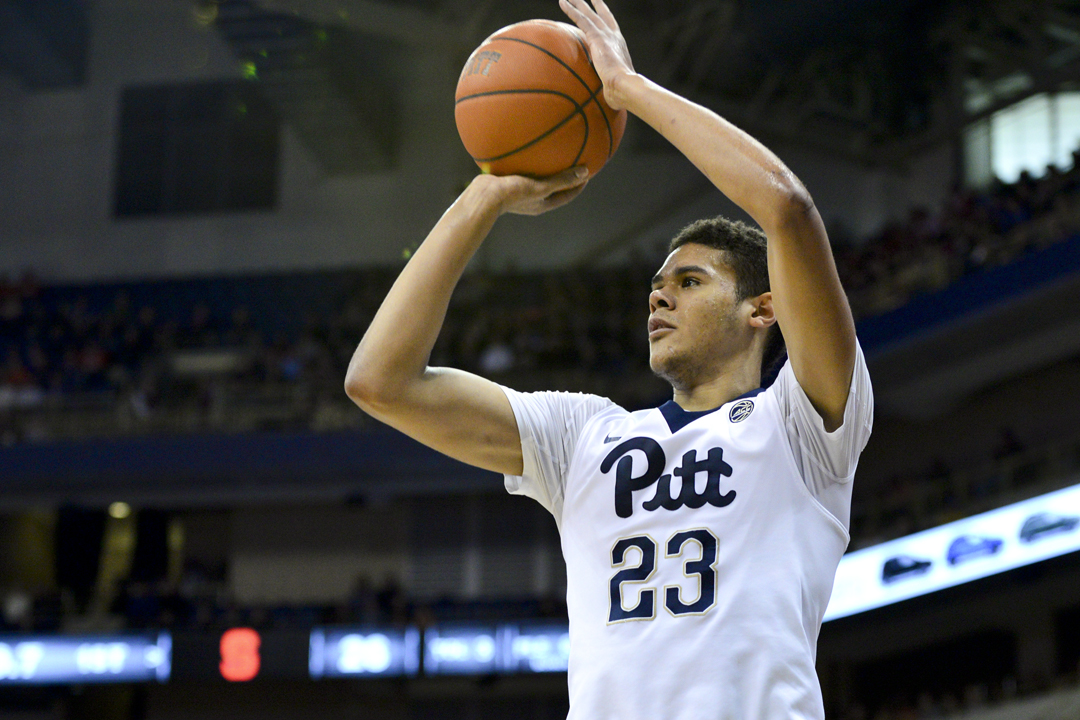 Sophomore guard Cameron Johnson scored a game-high 22 points in Pitt's 80-75 win vs. Syracuse on Saturday. Evan Meng | Staff Photographer