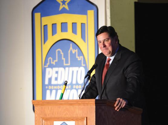 Pittsburgh Mayor Bill Peduto during his campaign in 2013.