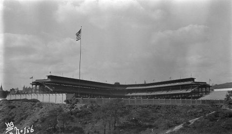 Posvar Hall home to former 'heart of Pittsburgh,' Forbes Field