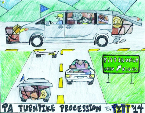 Welcome Back: Cartoon: PA Turnpike procession to Pitt