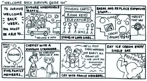 Welcome Back: Cartoon: Welcome back survival guide