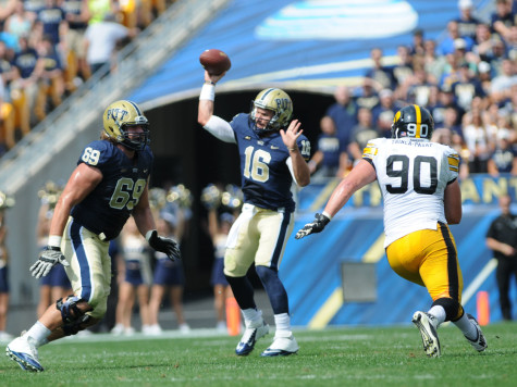 Pitt falters in second half, loses 24-20 to Iowa