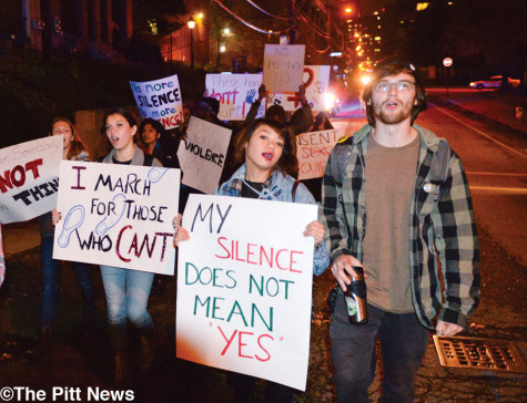 Students march to protest sexual violence