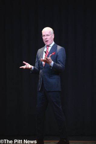 Gunning for gold: Tim Gunn visits Pitt