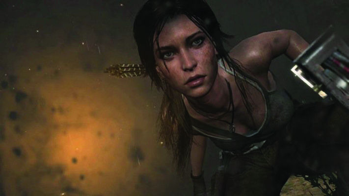A screenshot from the newest 'Tomb Raider' game