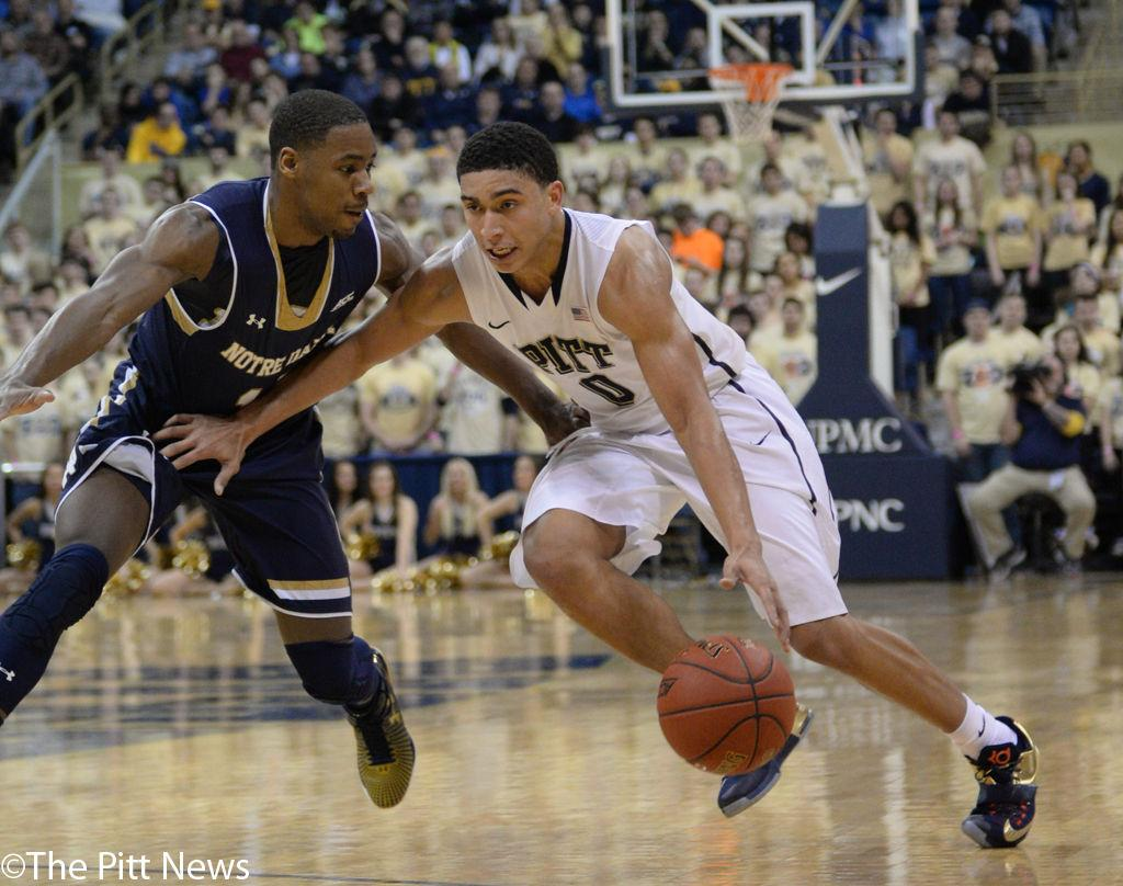 James Robinson fell in the first half of a game that officials cancelled. Pitt News File Photo