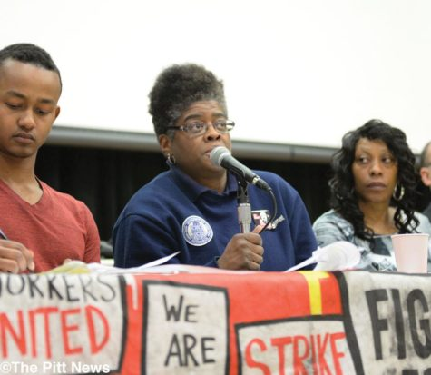 Service workers demand higher wages at panel