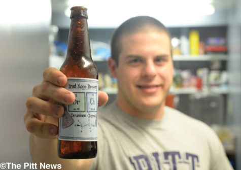 Brad Kopp's homemade beer