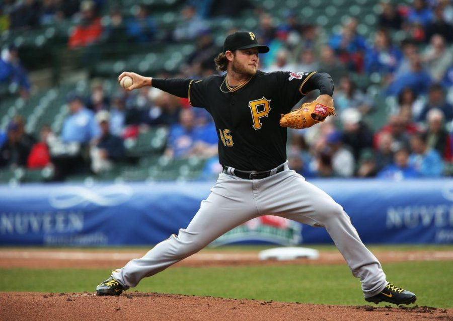 Pirates+pitcher+Gerrit+Cole+went+the+distance+for+his+first+complete+game+victory+against+the+Mariners+Wednesday+night.+%28TNS%29