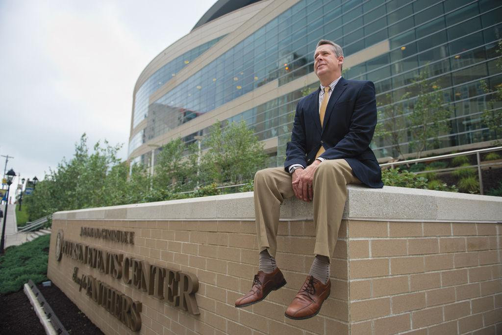 Athletic Director Scott Barnes looks out at the horizon of fundraising for Pitt athletics.