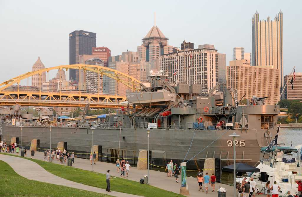 The USS LST 325 sailed for five days from its home in Evansville, Indiana to the Steel City.
