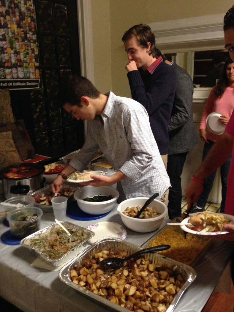 Students host their own Rosh Hashanah dinner for the Jewish new year. | Courtesy of Sami Sheinwald
