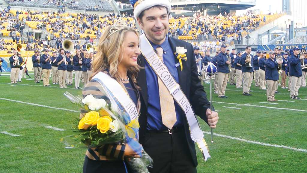 Last year's homecoming king and queen. Photo: Courtesy of Zheru Liu