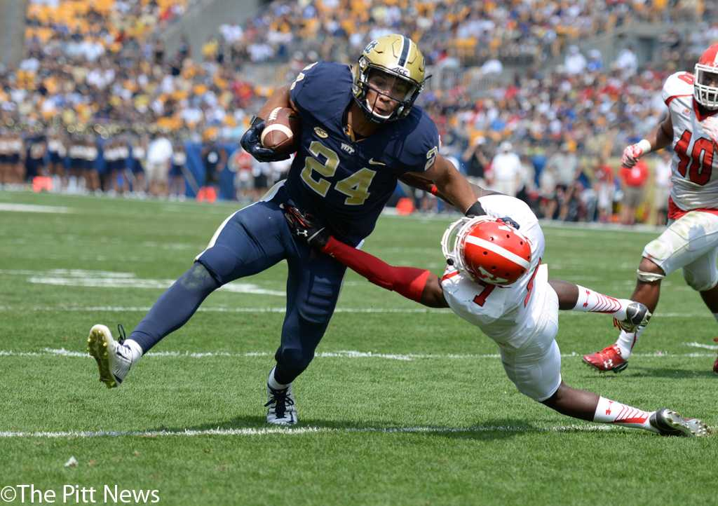 Pitt running back James Conner will take the field Saturday for the first time since recovering from a torn MCL and Hodgkin's lymphoma. Jeff Ahearn | Assistant Visual Editor