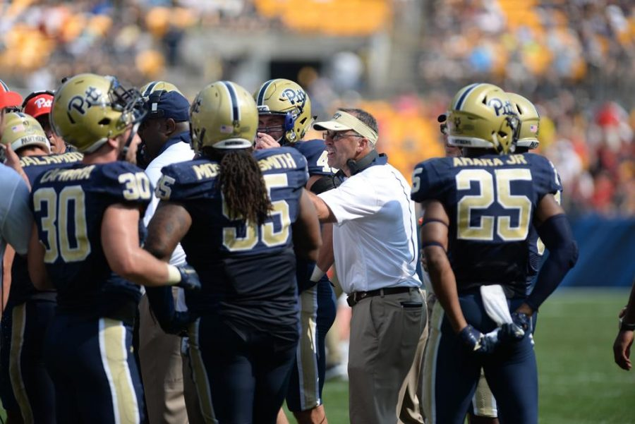 Narduzzi has lead Pitt into the top 25 college football teams of the NCAA.  Meghan Sunners | Senior Staff Photographer