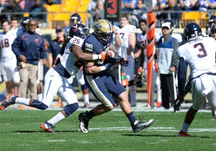 Tight end J.P. Holtz is one of three former Pitt Panthers joining Tyler Boyd in the NFL. Jeff Ahearn | Assistant Visual Editor