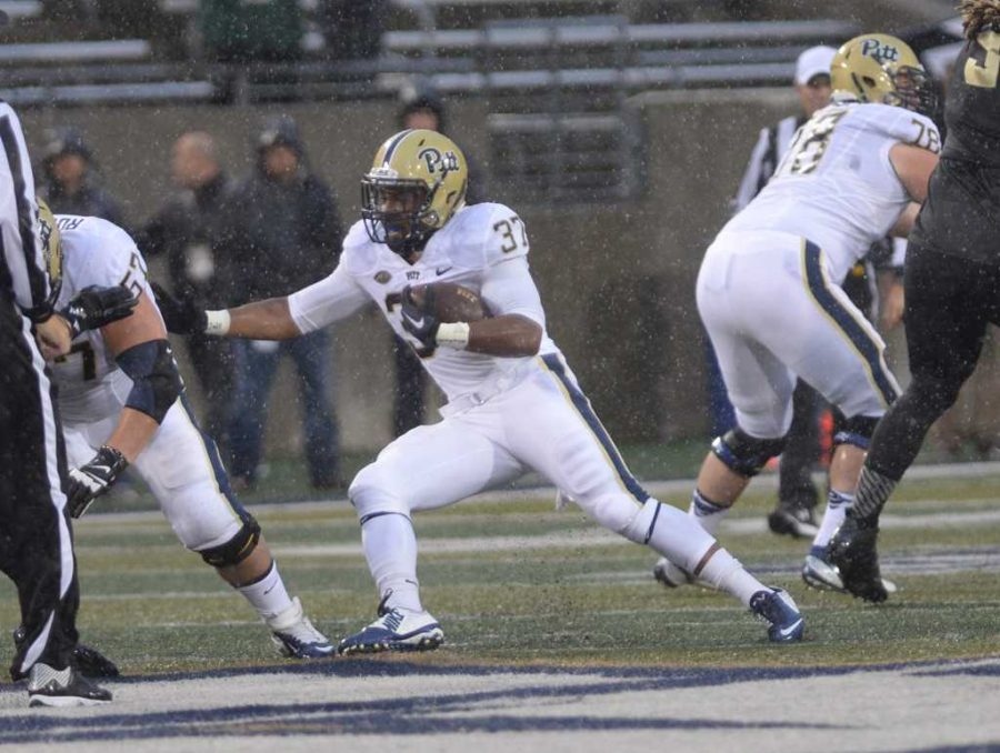 Qadree Ollison finds a hole. Jeff Ahearn | Assistant Visual Editor