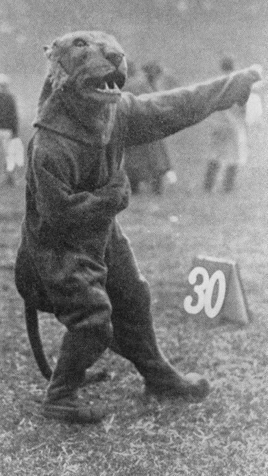 Roc appears at a football game in 1909. | Courtesy ULS Archives