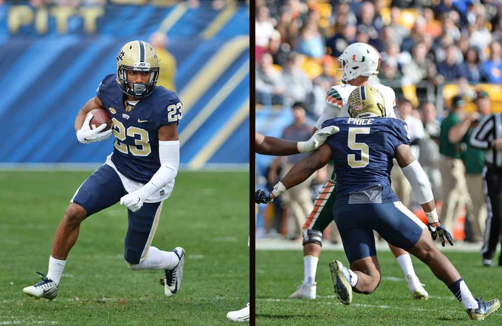 The ACC honors wide receiver Tyler Boyd and defensive lineman Ejuan Price as players for the ACSMA All-ACC football team.  Wenhao Wu | Staff Photographer