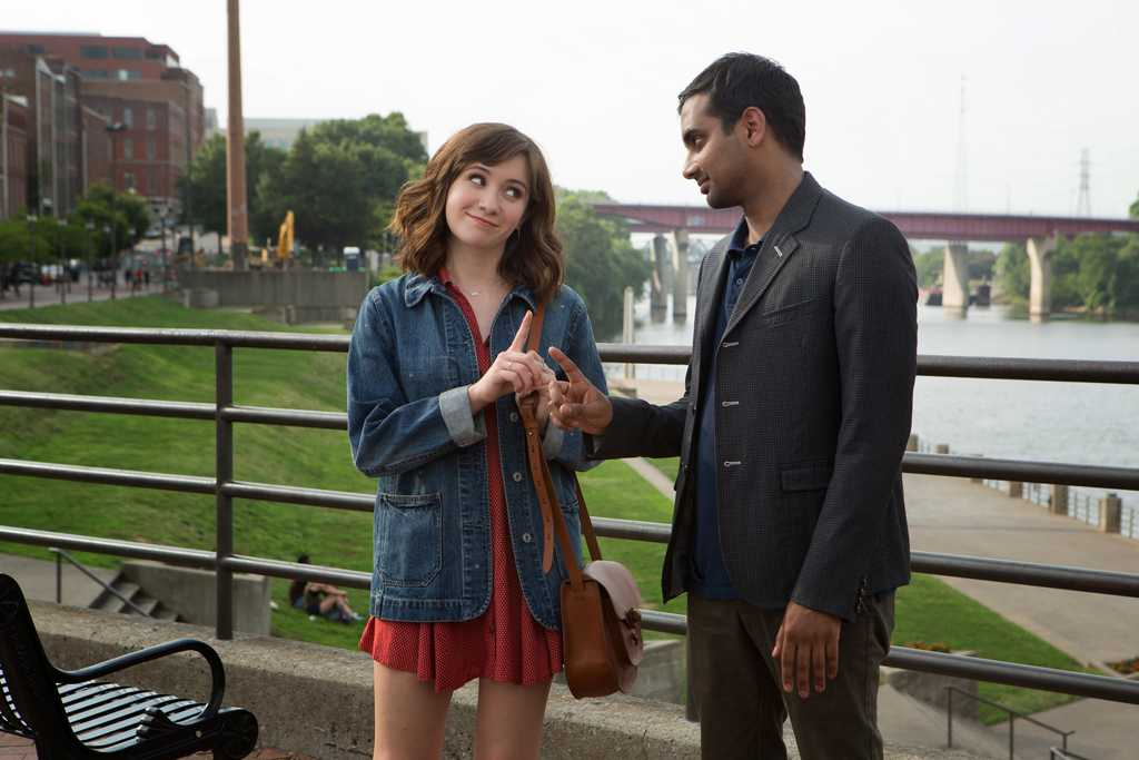 Noel Wells and Aziz Ansari in the Netflix original series
