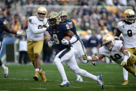 Kizer's aerial attack leads No. 5 Notre Dame over Pitt, 42-30