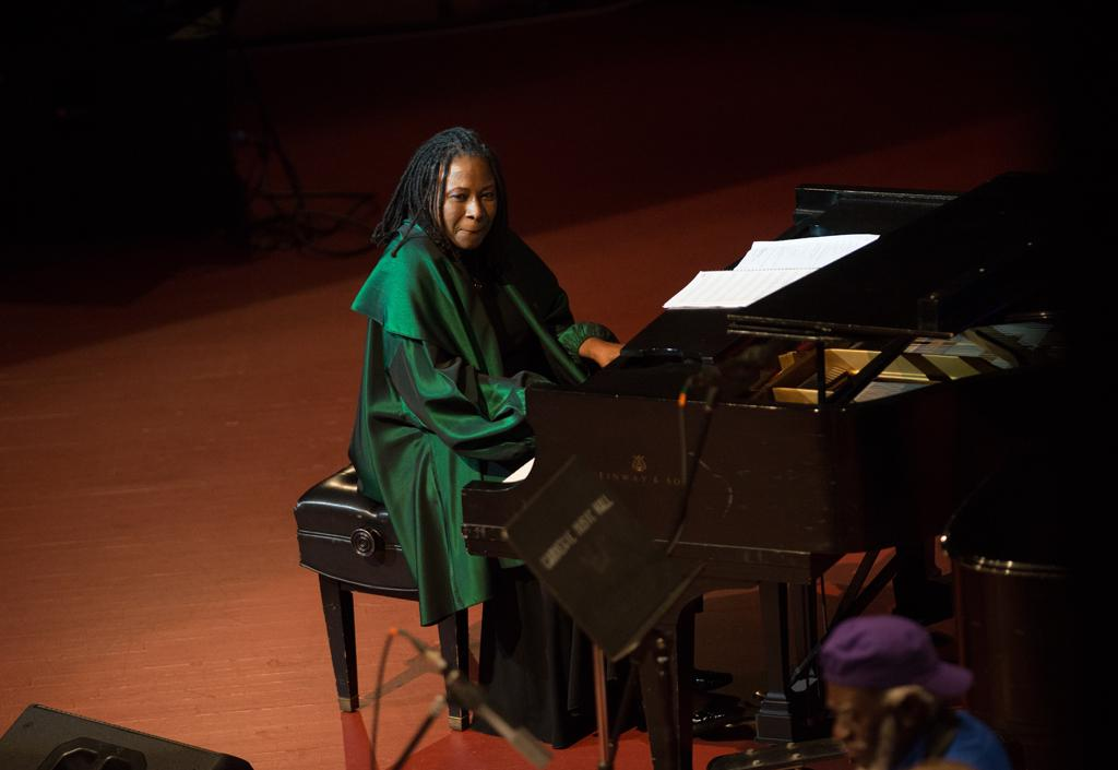 Pitt jazz professor and pianist Geri Allen joined the festivities in a few numbers.  Jeff Ahearn | Assistant Visual Editor