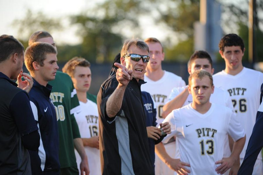 Pitt+men%27s+soccer+coach+Joe+Luxbacher+retires+after+32+years+with+the+Panthers.++Photo+courtesy+of+Pitt+Athletics