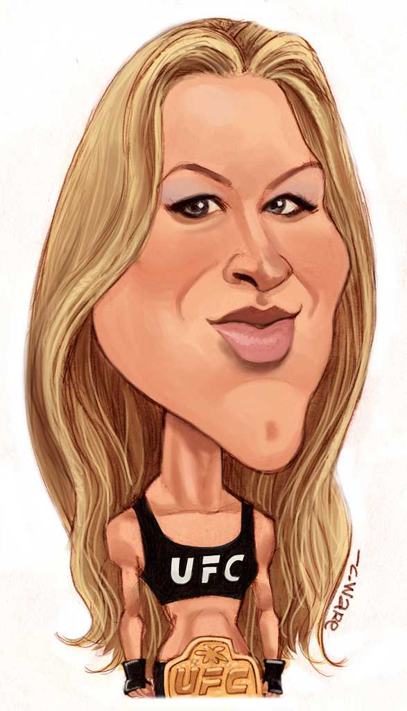 Chris Ware caricature of Rhonda Rousey (TNS). Ronda Jean Rousey is an American mixed martial artist, judoka and actress.
