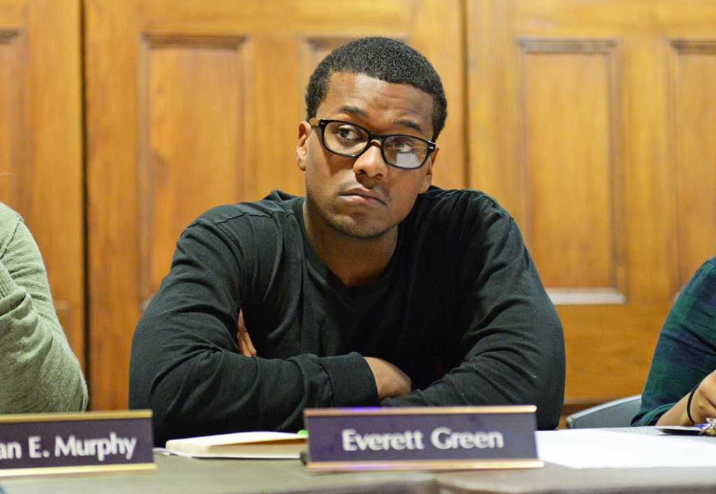 Everett Green assisted in Patrick Carelli's efforts to amend the rental registry bill. Kate Koenig | Staff Photographer