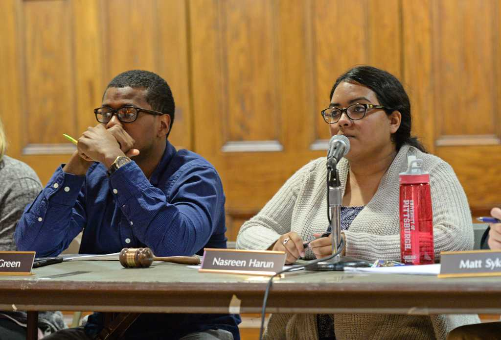 Everett Green proposed a new motion at the Student Government Board meeting on Tuesday night.  Nikki Moriello | Visual Editor