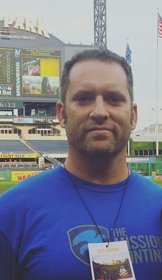 Pitt student and veteran  J. Matthew Landis sports his