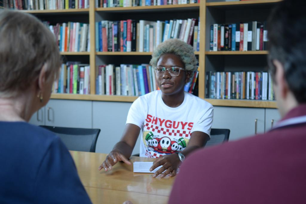 Freshman Kyra Samuda attends a recent Feminist Reading Group meeting. Pitt's Feminist Reading Group meets every other Thursday  to discuss trending topics and literature concerning feminism.  Nikki Moriello | Visual Editor