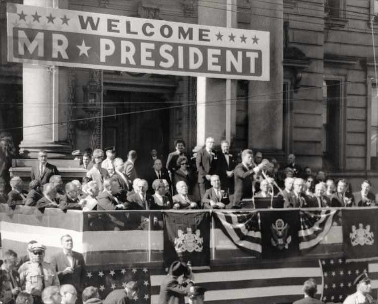 President+Kennedy+visited+the+University+of+Pittsbrugh+in+October+of+1962+in+the+midst+of+the+space+race.+Photo+courtesy+of+Historic+Pittsburgh