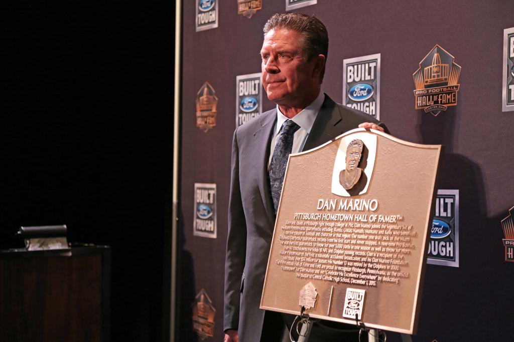 NFL Hall of Famer Dan Marino visited his alma mater, Central Catholic High School, on Tuesday morning to accept the Pittsburgh Hometown Hall of Fame award.   Nikki Moriello | Visual Editor