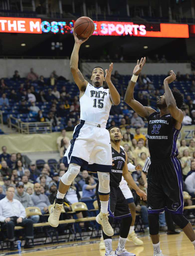 Sterling Smith takes a floater shot.  Jeff Ahearn | Assistant Visual Editor