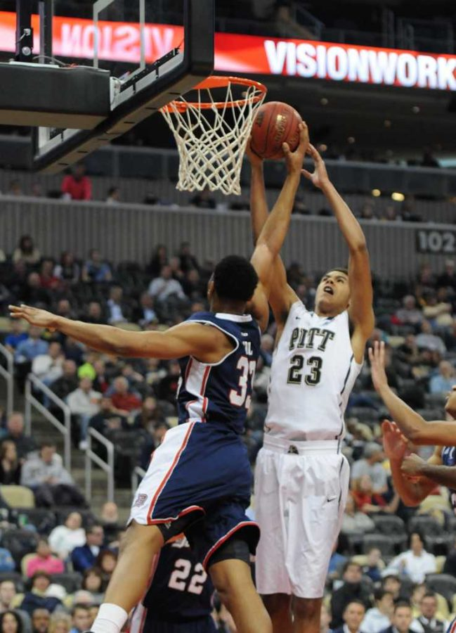 Pitt+takes+on+Duquesne+in+the+City+Game+Friday+at+7pm+at+the+Consol+Energy+Center.++TPN+File+Photo