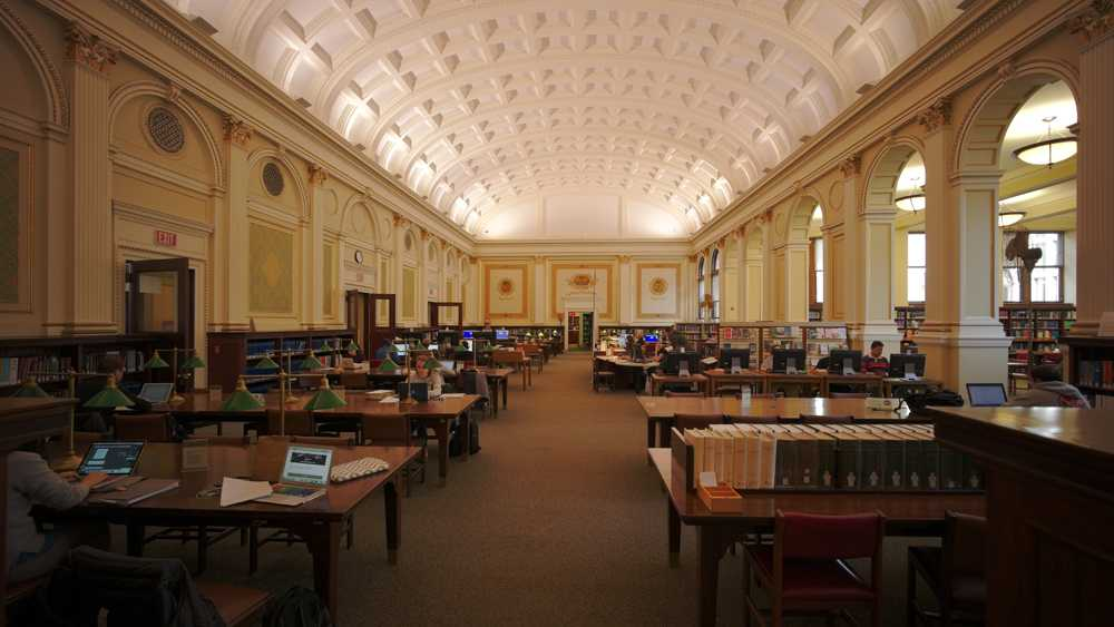 The main room of the Carnegie Library in Oakland.  (Wikipedia)